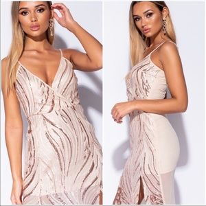 Dresses & Skirts - Strappy Sequined Detail Dress